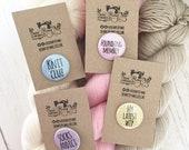 Knitting sock knitting knit club my latest wip knitters gift badge pin