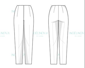 Cigarette Pants Block PDF Sewing Pattern