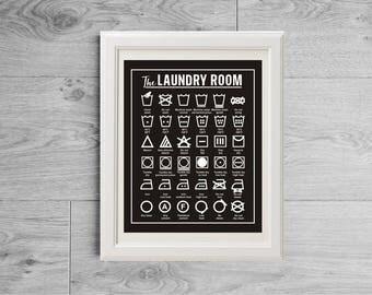 Laundry Symbols Wall Art Stunning Laundry Symbols Print Laundry Symbols Wall Art Symbols For Inspiration