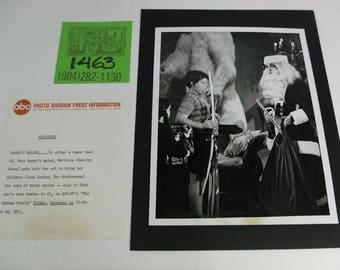 1960's ABC/Addams Family Holiday Episode Promo Photo w/episode synopsys