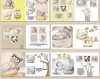 ON SALE Baby Album Templates, 10x10Photobook Templates for Adobe Photoshop, sku-Best Memories