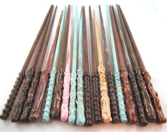 Wooden Wizard Wands - Magical Wooden Wands - party favour - magic roll play - Wizard Prop - Magic Tool - Magic Prop made in Canada