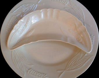 White Ironstone Bone Dish and Plate Set, Serving, Wall Display Plates, Cabinet Plates, Serving Plates, Kitchen