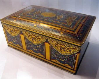 Canco Beautebox Tin Candy Box, Art Nouveau Design, 1910 - 1920,  for Huyler's Candy (?), American Can Co., U.S.