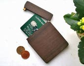 Wooden Wallet, wooden card holder. Slim wallet, minimalist wallet with FREE engraving - perfect personalised gift for men.