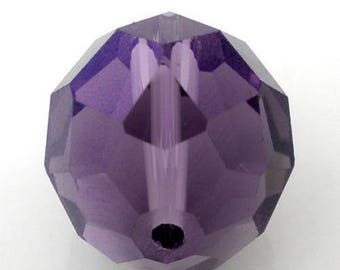 16mm deep purple faceted beads