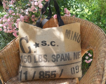 large antique double bags Canvas Tote has old mattress