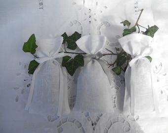 3 beautiful damask old garden Lavender linen Lavender sachets