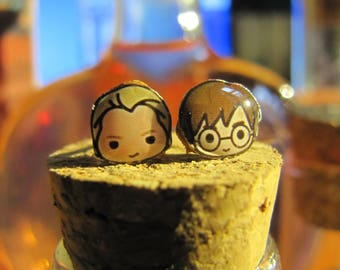 Earrings Draco/Harry; Ron/Harry OR Ron/Ron.