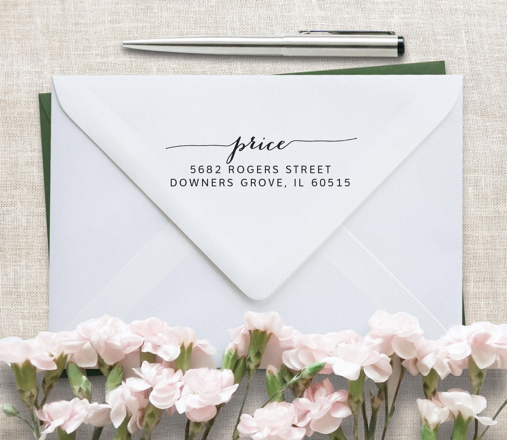 Calligraphy Address Stamp Wedding Invitation Stamp Rsvp