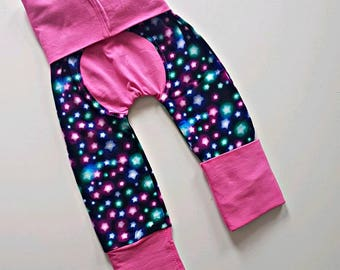 Glowing stars bootie pants//Grow with me pants //Maxaloones