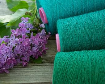 Linen yarn on cone- 100% linen yarn - total 1.5kg / 52.5oz
