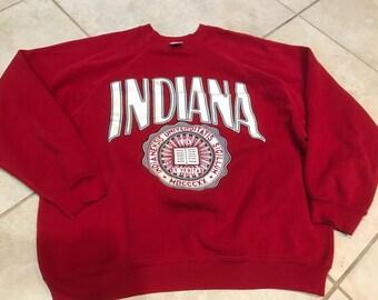 Vintage 90's Indiana University Sweatshirt XL college Ncaa Hoosiers