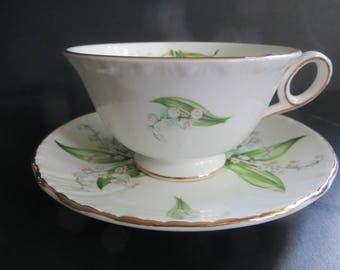 Royal Grafton Fine Bone China Lily of the Valley Cup Saucer