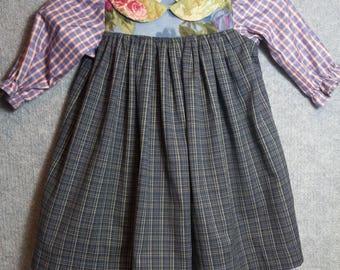 Little girls old-fashioned flannel dress