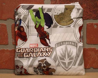 One Sandwich Bag, Guardians of the Galaxy, Reusable Lunch Bags, Waste-Free Lunch, Machine Washable, Sandwich Sacks, item #SS76