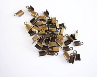 lot 20 tips lace brass bronze 8 x 3, 5mm