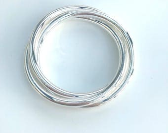 Bangle 3 rings in 925 Silver