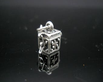 Small Box Charm Sterling Silver Cross Present Gift Opens 925 Jewelry