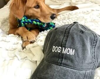 Dog Mom : Embroidered Hat or Visor