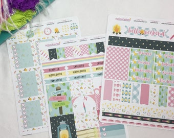 Camping Set, Bible Stickers, Planner Stickers, Camping Stickers
