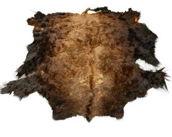 Glacier Wear Second Quality Buffalo Bison Robe Hide Rug #0018