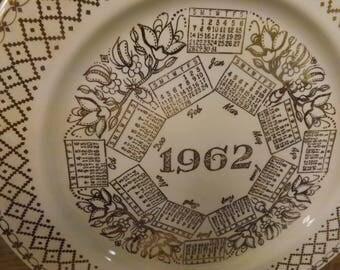 1962 Calendar Plate