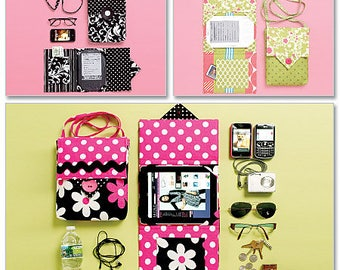 Electronic Device Carrying Case in 2 Sizes and E-Reader cover in 3 Sizes Pattern by McCall's Fashion Accessories 6477
