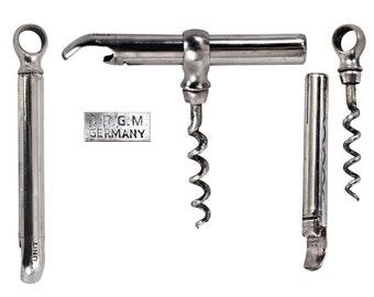 Vintage German Patented Picnic/Sheath Corkscrew w/ Bottle Opener