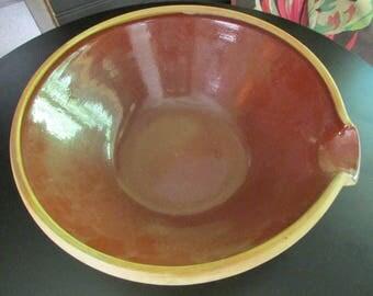 AnTique Batter Bowl ~ B&S Pottery #4 ~ Rustic Farmhouse Flavor