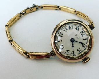 Rare antique swiss Thaïs ladies gold watch from 1910s
