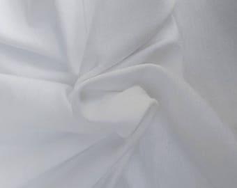 Fresh White Supima Cotton Modal Spandex 1x1 Rib Knit Fabric by the Yard 12/17