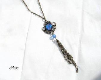 vintage bronze CO690 Medallion necklace