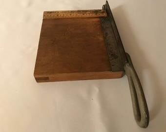 Vintage Burke & James Ingento Paper Cutter No. 6 Guillotine Style