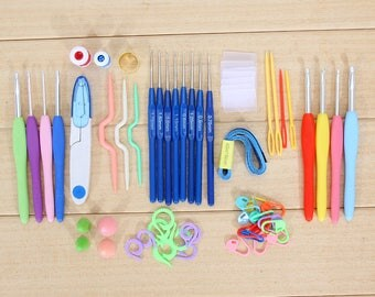 57pcs/Set of Crochet Hooks Sewing Tools Knitting Needles