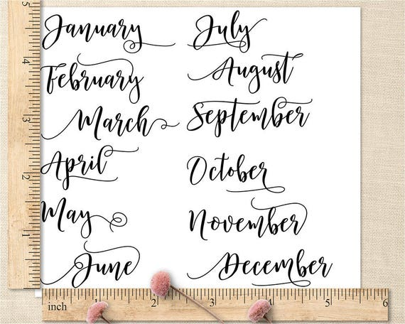 Calendar Stamp Bullet Journal : Month planner stamps bullet journal calendar