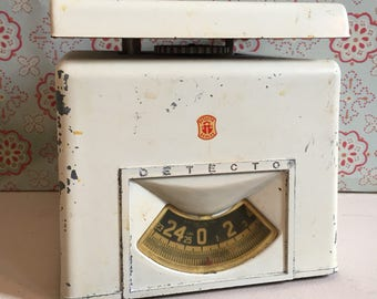 Vintage Shabby White Detecto Postage Scale