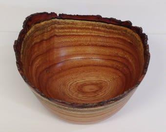 Natural Edge Elm Bowl, Wood Bowl, Natural Edge Bowl