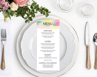 It's a Mod, Mod World - DIY Wedding Menu // Mid-Century Modern Wedding Invitation // Printable Wedding Invites / Editable PDF Template