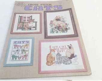 Cross Stitch Pattern, Cat Pattern, Kitten Pattern, Cat Cross Stitch, Cat Motto, Cat Gift, Cat Needlework, Persian Cat, Calico Cat