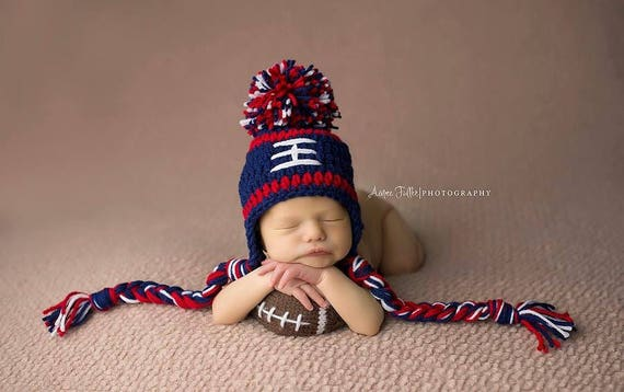New England Patriots Baby Boy Hat Football Newborn Baby Boy Or