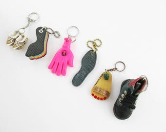 Instant Key Chain Collection - 'Hands' and 'Feet' Key Chains - Collection - Unique Key Chains - Holland - Cozumel - Dexter and More