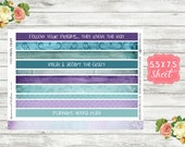 KT03 Peacock Parade - Washi Planner Stickers - Washi Planner Strips - Washi Stickers - Washi Strips - Erin Condren - Happy Planner