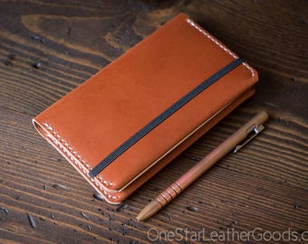 Leuchtturm 1917 Pocket (A6) hardcover notebook cover, bridle leather - chestnut