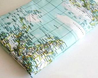 World Map Fabric Windham. World map fabric  Maps print of the world mint blue yardage travel Map Fabric Etsy Studio
