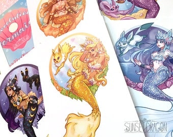 Mermaid Eeveelutions Postcard Set