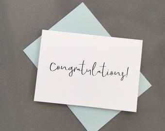 Congratulations Card. Congrats Card. Graduation Card. Achievement Card.Greeting cards