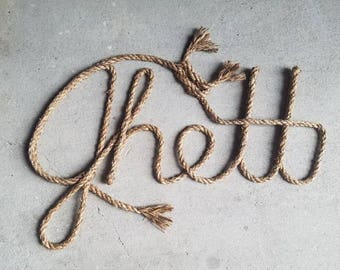5 LETTER Name Western/Nautical  Rope Name Art