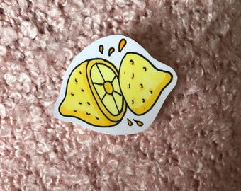 cute hand-drawn lemon sticker