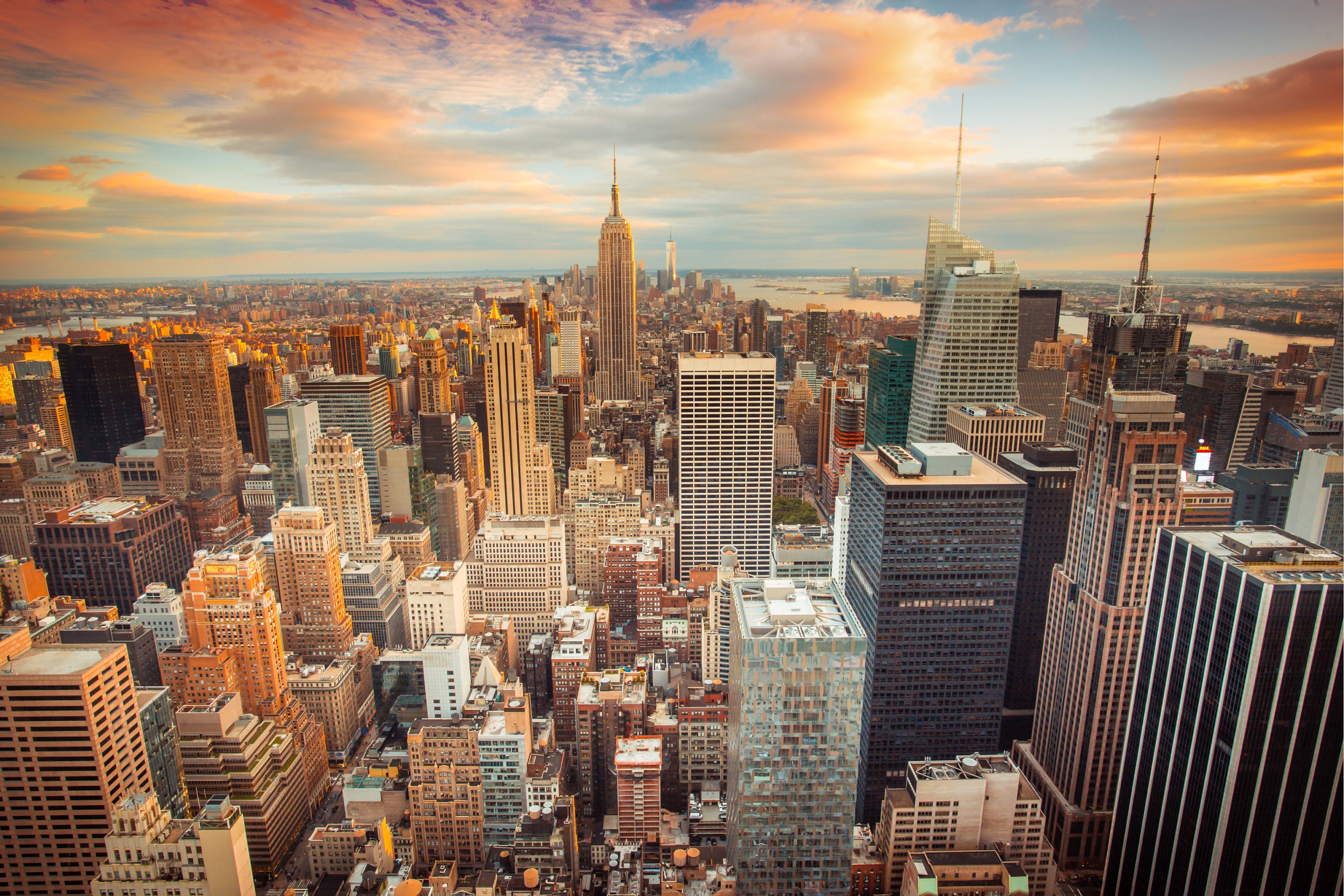 New York City Wall Art new york city wall art, new york sunset,large new york city art
